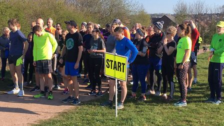 Runners congregate for the start of last Saturday's Frickley Country parkrun. Picture: CARL MARSTON