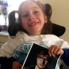 Teigan Bayliss was excited to recieve surprise gifts from Suffolk superstar Ed Sheeran Picture: TONY