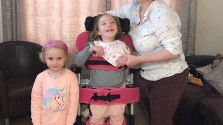 From left: Tracey Bayliss, Teigan Bayliss, and their mum Rebecca Bayliss -Tracey and Teigan are mass