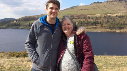 Matthew Guille (left) and Julia Guille (right) on a training walk at the Yorkshire Moors Picture: SU