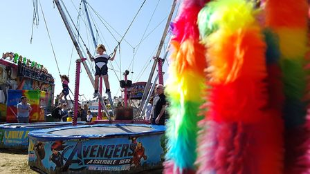 There were also bungee ropes on Felixstowe seafront. Picture: RACHEL EDGE