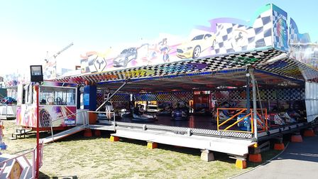 There was a funfair on Felixstowe seafront. Picture: RACHEL EDGE