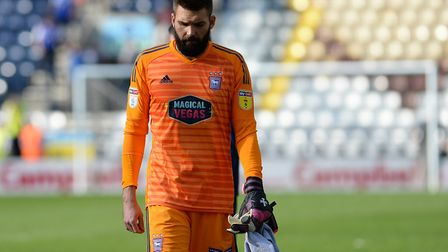 Bartosz Bialkowski leaves the pitch after the defeat at Preston. Picture Pagepix