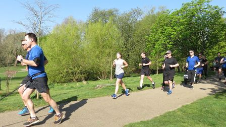 Runners tackling the 5K course at Christchurch Park on Saturday morning. Picture: IPSWICH PARKRUN FA