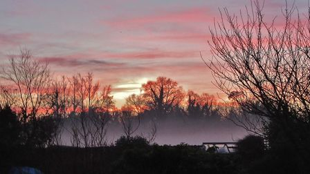 A colourful sunset mist Picture: PETER BASH