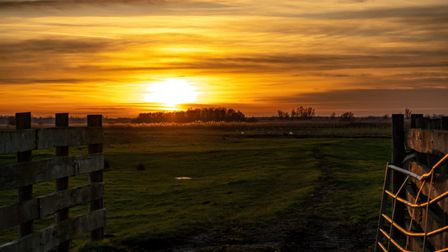 A winter sunset at Carlton Marshes Picture: STEPHEN GEDGE