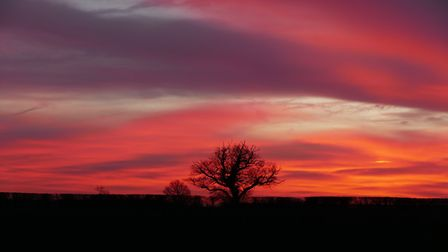 Red sky in the morning Picture: PAMELA BIDWELL