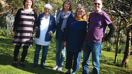 Members of the CO10 Collective - Sue Marsden, left, Val Burnett, Judith Glover, Cathy D'Arcy, and Jo