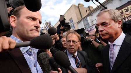 Nigel Farage campaigned for Douglas Carswell in Clacton in 2014 - now he's back in town with his Bre