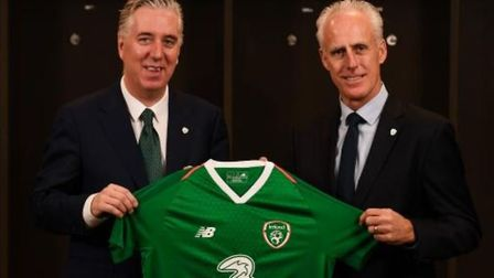 Former Ipswich Town manager Mick McCarthy (right) has been appointed as the new Republic of Ireland
