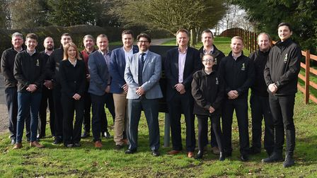 Country Broadband chief executive Lloyd Felton with the County Broadband team Picture: WARREN PAGE