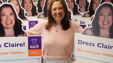 Claire Wright has launched the Dress Claire donation drive for EACH Picture: EACH