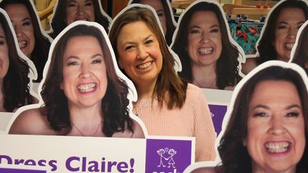 Claire has launched the campaign to thank EACH for its support following the death of her son Pictur