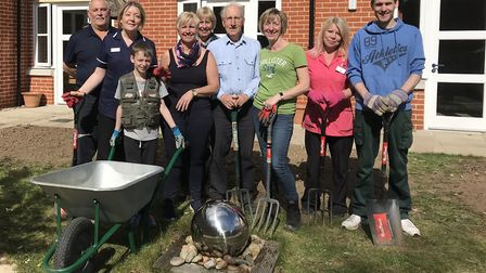 The garden project day at Hillcroft House in Stowmarket. Picture: HEALTHCARE HOMES