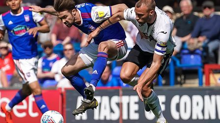 Gwion Edwards is an injury doubt for Ipswich Town today. Photo: Steve Waller