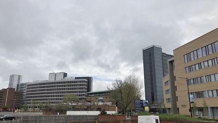 The skies about Ipswich on April 28. A cloudy day with some sunny spells is much the same for Suffol