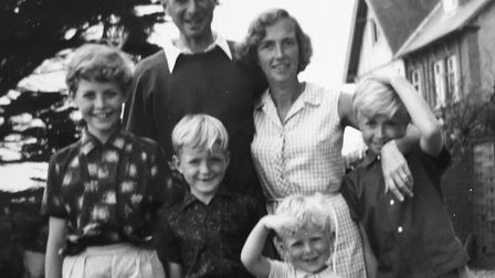 A family photograph - John and Verna with children David, Peter, Andrew and Tim - in about 1968 Pi