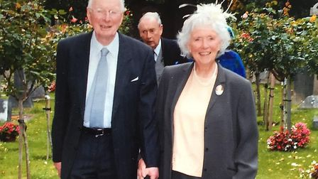 John and Verna at a wedding in Bristol in about 2008 Picture: FAMILY COLLECTION