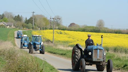 3rd annual Easter tractor road run Picture: ANDREW MUTIMER