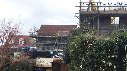 The homes are being built on Cuckoo Hill Picture: JAMES FREWIN