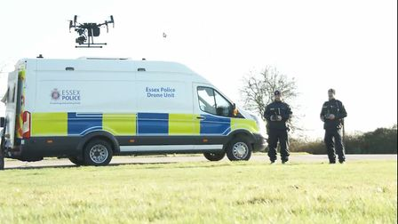Drones could also help in the search for missing people Picture: ESSEX POLICE