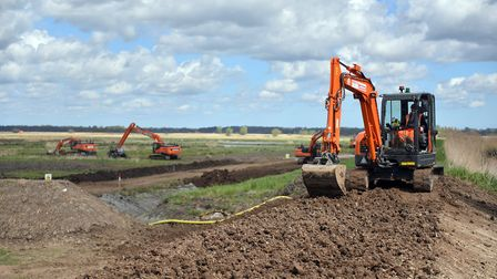 The initial work at Carlton Marshes will see the creation of scrapes PICTURE: Jamie Honeywood