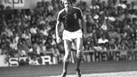 Frans Thijssen, pictured playing for Town in 1982, will be one of the guest stars at the event Pic