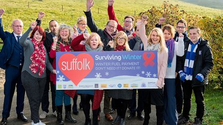 The launch of the 2018/9 Surviving Winter campaign in Suffolk Picture: Suffolk Community Foundation