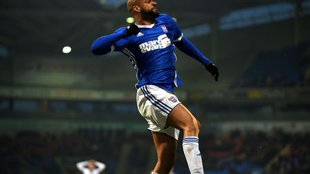 David McGoldrick celebrates at Bolton after Joe Garner had applied the finishing touch to equalise f