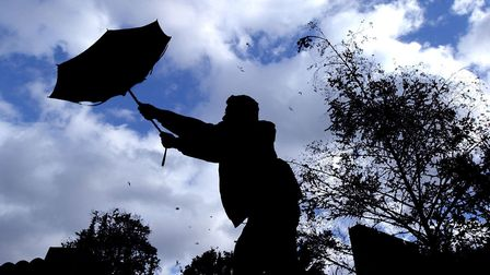 Storm Hannah will see heavy rain and windy conditions hit Suffolk and Essex on Saturday afternoon. P
