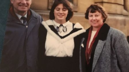 Ray and Maureen Woodhouse with daughter Sarah at her university graduation in Oxford in1993 Pictur