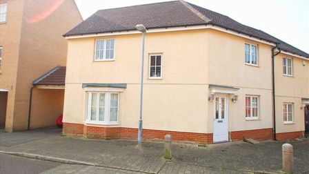 This three-bedroom home in Agnes Silverside Close, Colchester, has an asking price of £265,000. Pict