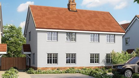 An artist's impression of new-buiild properties in Badingham, starting from �240,000. Picture: WILLI