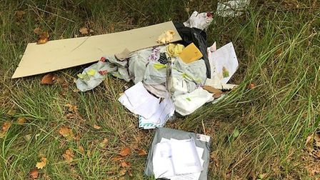 A picture of the flytipped waste Picture: WEST SUFFOLK COUNCIL