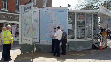 The mobile facility opens out into a larger exhibition and will feature displays and presentations o