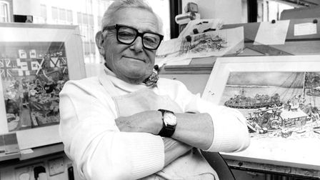 Carl Giles pictured in his studio overlooking Princes Street in Ipswich Picture: ARCHANT ARCHIVE