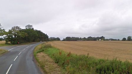 Another seven sheds are planned for land to the south of the B1117 in Horham Picture: GOOGLE MAPS