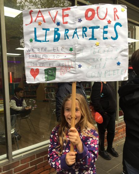 Children as young as four joined the protest Picture: SAVE OUR LIBRARIES ESSEX