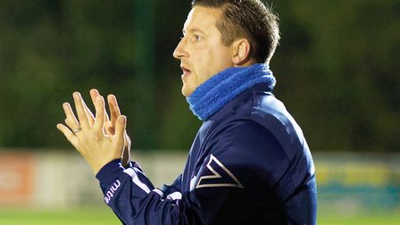 Leiston boss Stuart Boardley will have to rally his troops for the Suffolk Premier Cup Final. Photo:
