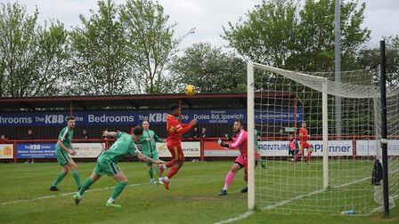 Needham go close to adding a second against Alvechurch. Picture: BEN POOLEY