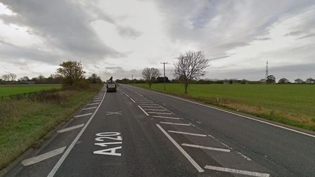 A stretch of the A120 has been closed causing long tailbacks Picture: GOOGLEMAPS