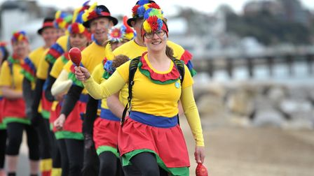 The group were hoping to set a new world record by Conga dancing more than eight miles up and down F