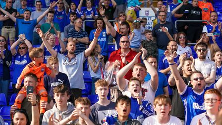 Ipswich Town fans have got behind their team during a campaign which has seen the club relegated to