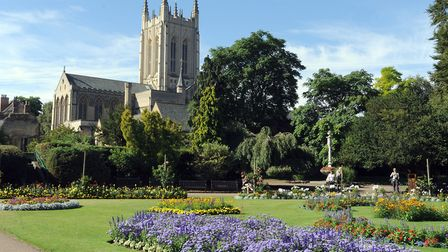 St Edmundsbury Cathedral viewed from the Abbey Gardens in Bury St Edmunds Picture: ARCHANT