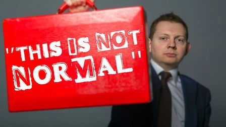 Matt Chorley will be bringing his new show This Is Not Normal to theTheatre Royal Bury St Edmunds fo