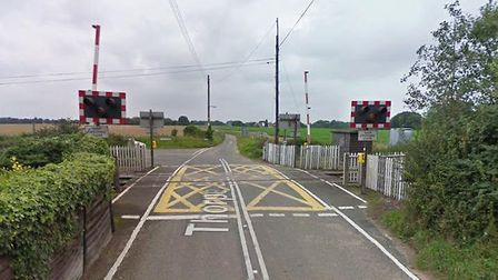 The Thorpe Lane crossing at Trimley St Martin Picture: GOOGLE MAPS