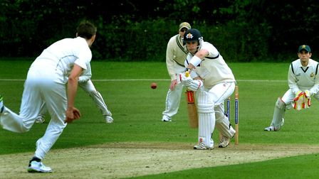Copdock & OI skipper, Chris Swallow, in action with the bat. He has led his side to back-to-back win