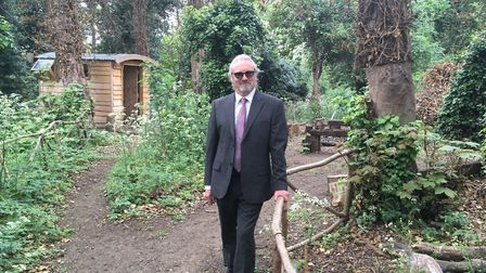 Eden-Rose Coppice Trust founder Rob Brooks in Brickmakers Wood Pictures: Ross Bentley