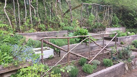 The herb garden in Brickmakers Wood was built by young people