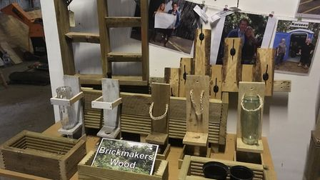 Wooden pieces made by young people working with Eden-Rose Coppice Trust in Brickmakers Wood